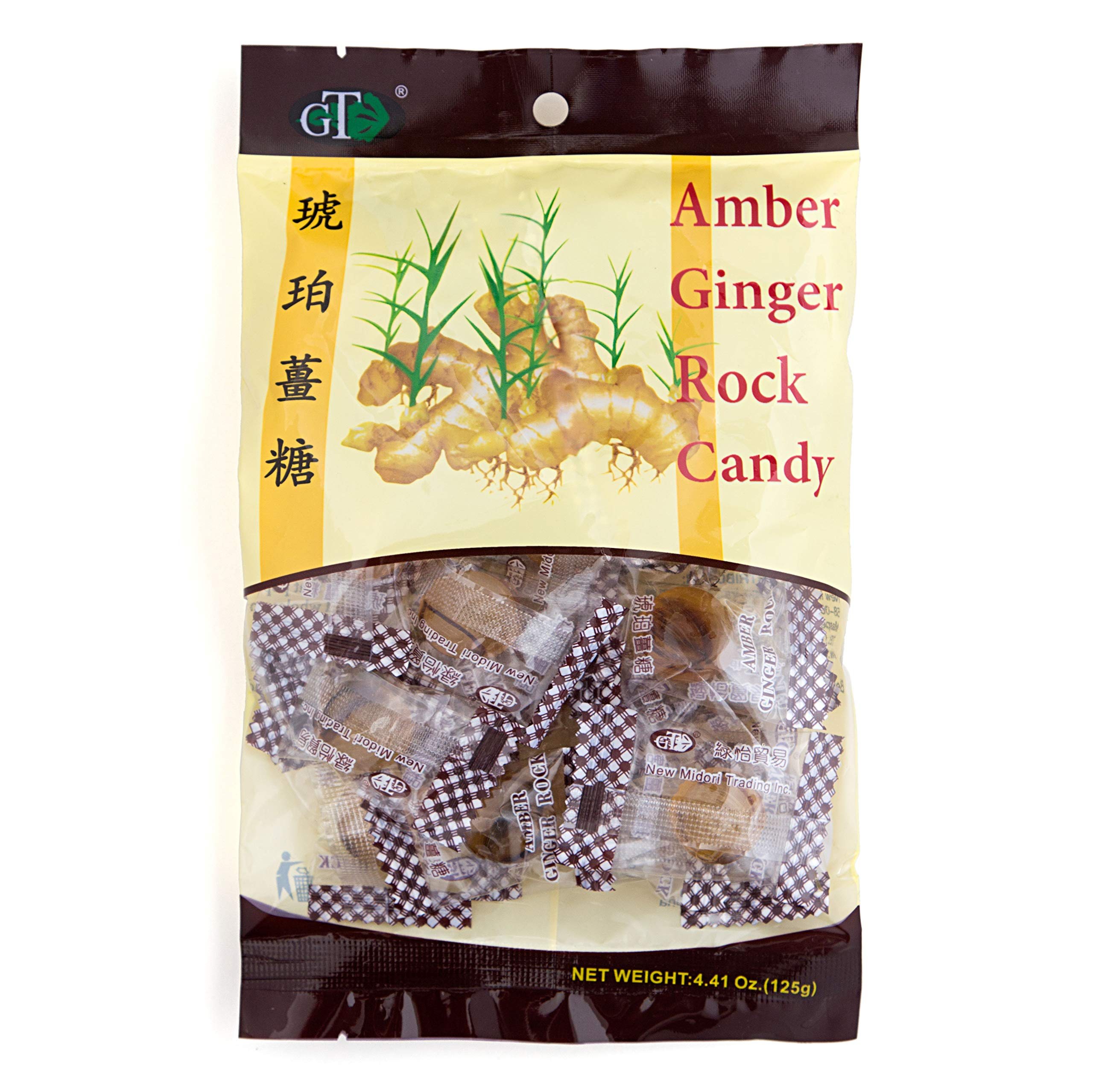 Amber Rock Ginger Candy 4.4oz by GoTo Tea