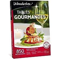 Wonderbox - Coffret cadeau TABLES GOURMANDES – plus de 850 restaurants renommés, brasseries chics, cuisines gastronomiques, décors raffinés à découvrir à 2