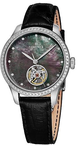 Perrelet Reloj de Mujer automático 35mm Correa de Cuero de caimán A2069-2: Perrelet: Amazon.es: Relojes
