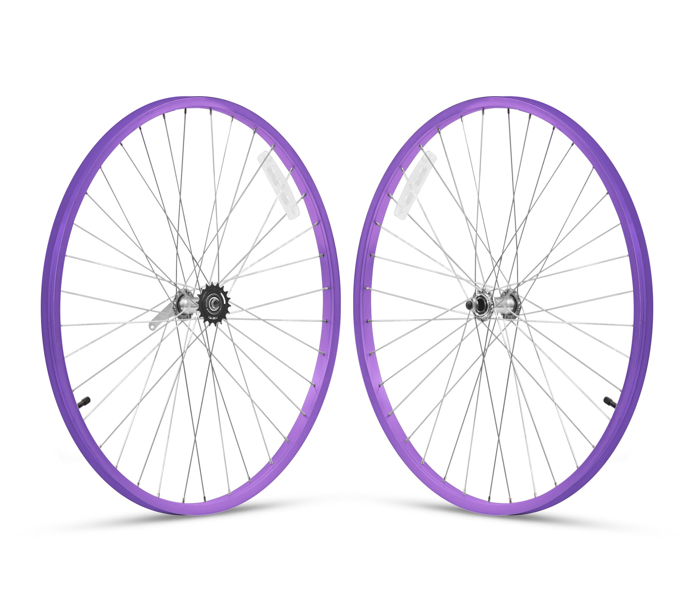 Firmstrong 1-Speed Beach Cruiser Bicycle Wheelset, Front/Rear, Purple, 26''