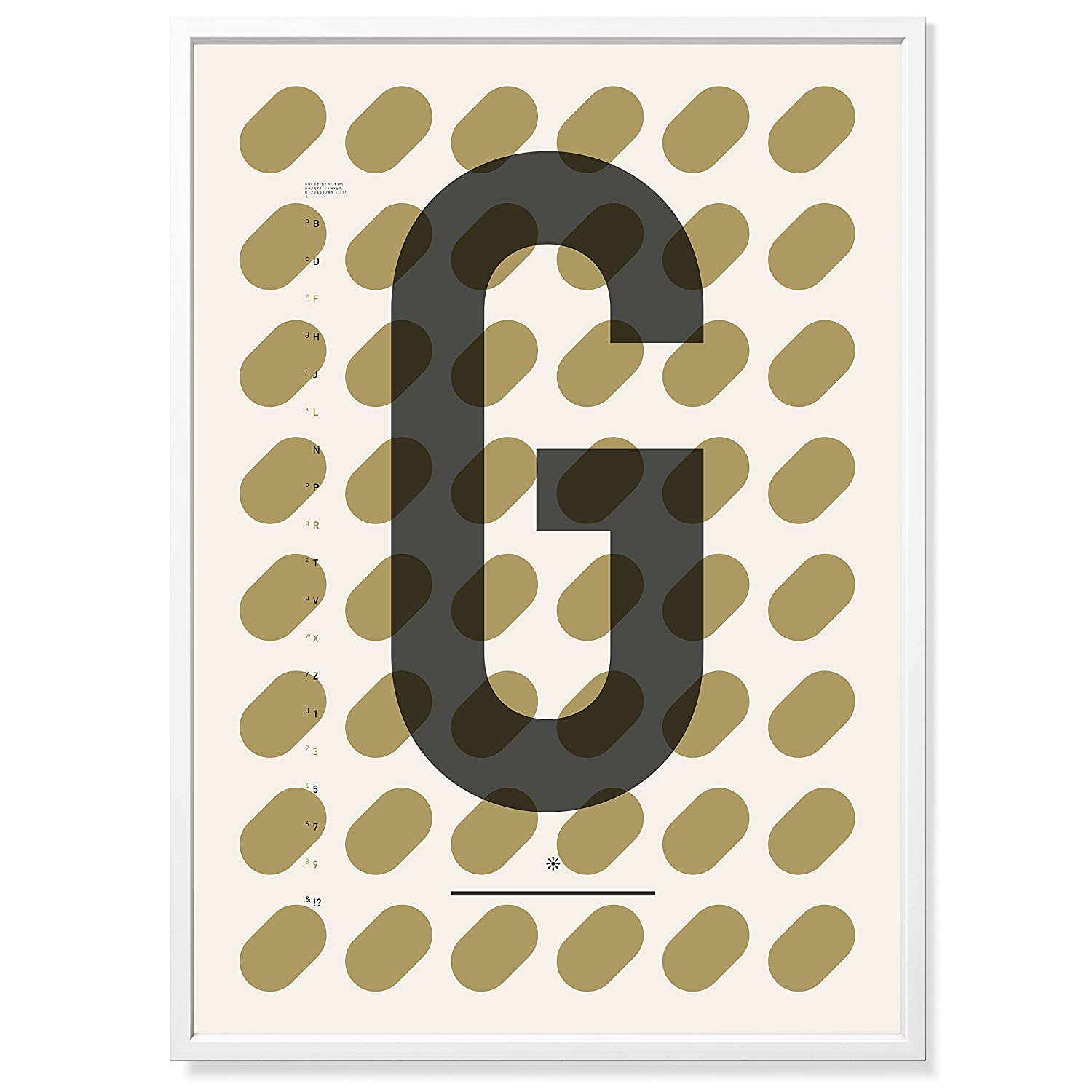 TYPE HYPE Poster Din G, Andere, Natur Beige Anthrazit, 70 x 50 x 0,2 cm