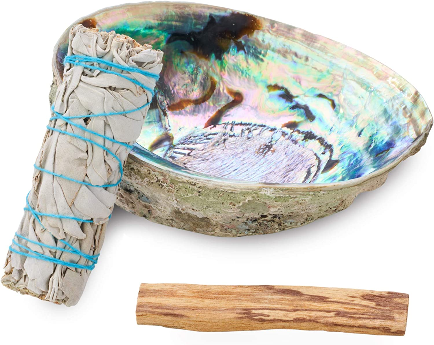 JL Local Origins Smudging Kit - White Sage Smudge Stick + Palo Santo + Abalone Shell Bowl   Sustainably Sourced Healing Incense for Home Cleansing, Protection, Meditation, Positive Energy…