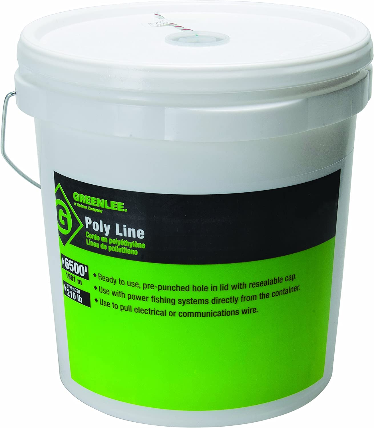 Fishing Line,500 Ft,Poly Line,210 lb GREENLEE 430-500