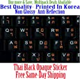 Thai English Non Transparent Black Background Keyboard Computer Stickers