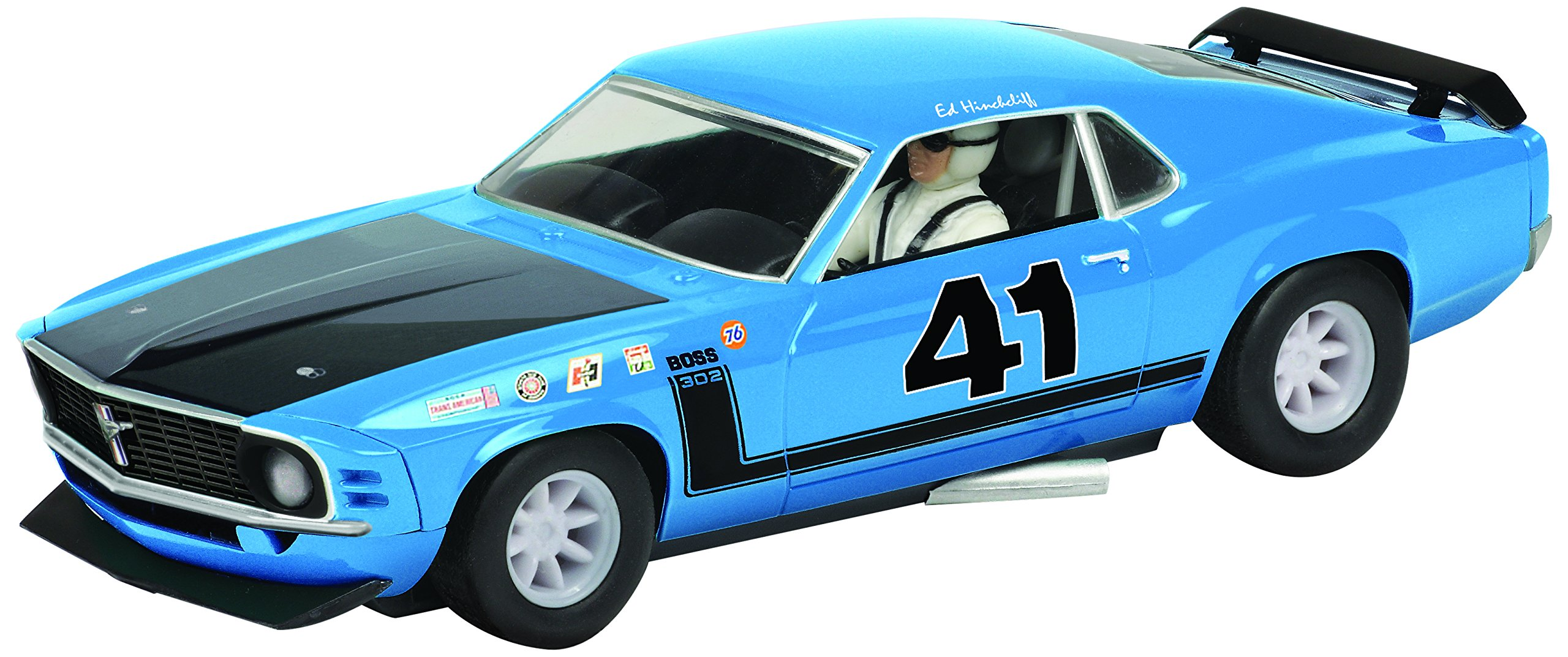 Scalextric C3613 Ford Mustang Boss 302 1969 Trans-Am Championship Ed Hinchliff Slot Car (1:32 Scale)