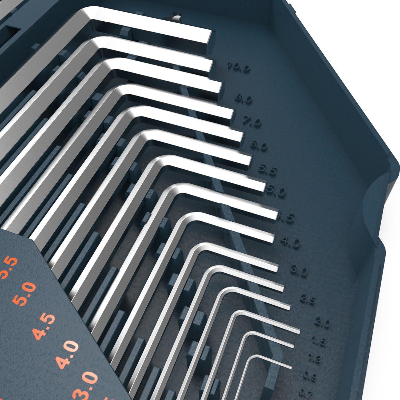 Presch Clé Hexagonale Set HX 30pcs Métrique et Impérial Hex Keys Set-Grand Hexagone
