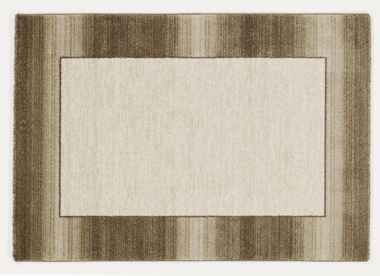CONTESTO CLASSICO moderner Designer Teppich in beige-braun, Größe  140x200 cm