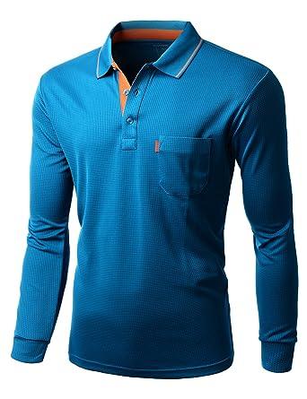 Xpril Men\'s Cool Max Fabric Sporty Design 2 Tone Collar Polo T ...