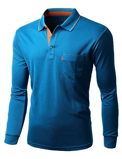 Men\'s Cool Max Fabric Or Cotton Sporty Design 2 Tone Collar Polo T Shirt