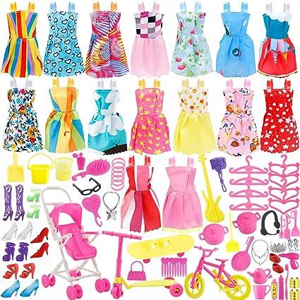Barbie Doll Clothes Lot Dress /& Shoes Set Vintage Style Princess 1960/'s Fashion