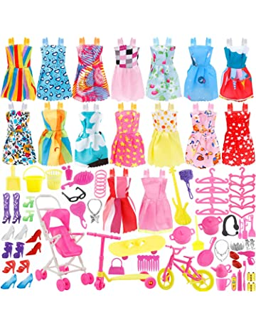 Total 114pcs - 16 Pack Clothes Party Gown Outfits for barbie dolls+ 98pcs  Dolls Accessories Shoes 8224db362