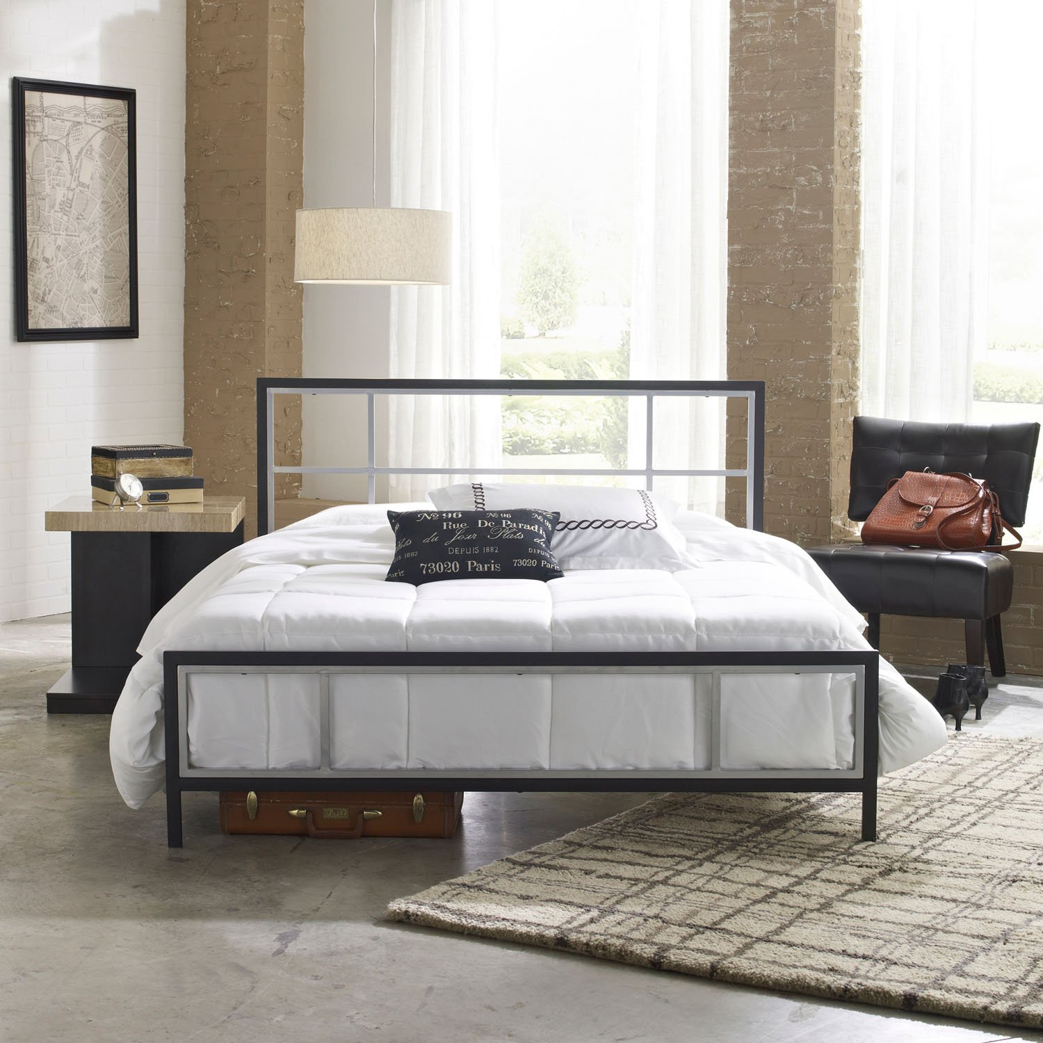Cute Metal Bed Frame Queen Decoration