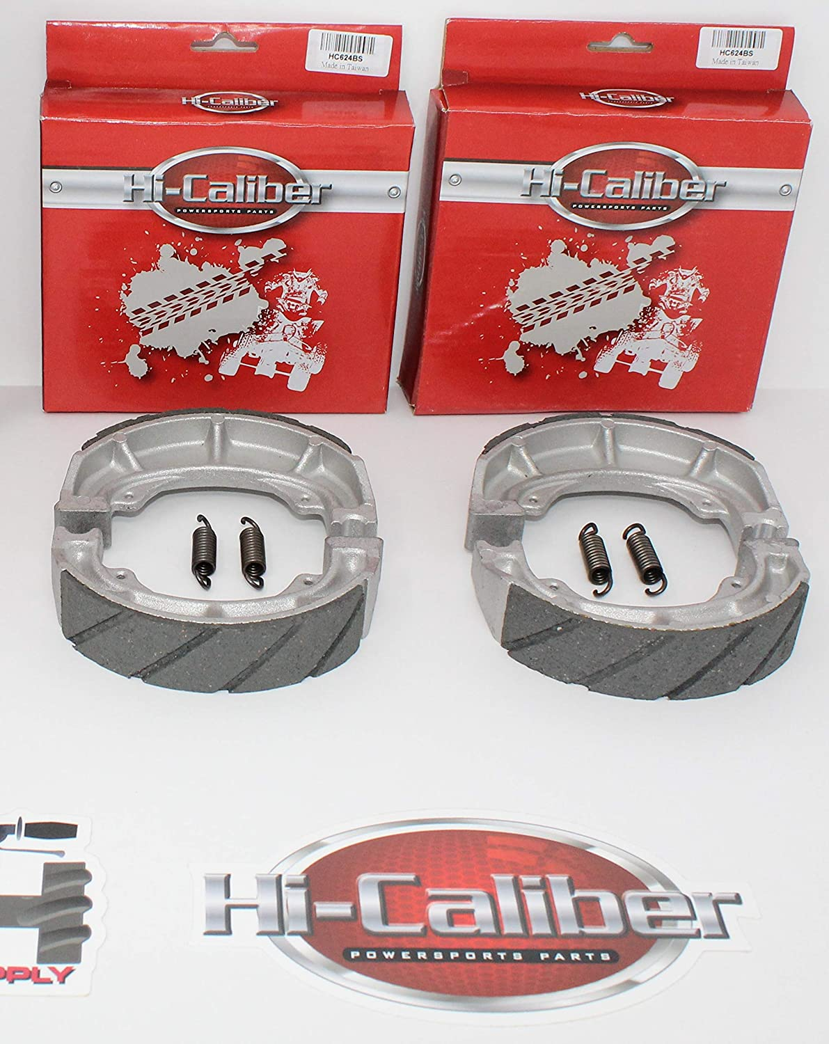 QUALITY WATER GROOVED Front Brake Shoes with Springs for 1989-2004 Suzuki LT LTF 160 Quadrunner ATVs