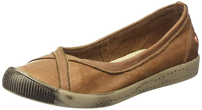 Softinos Ilma Washed, Ballerines Femme - Marron - Braun (Brown 520), 39