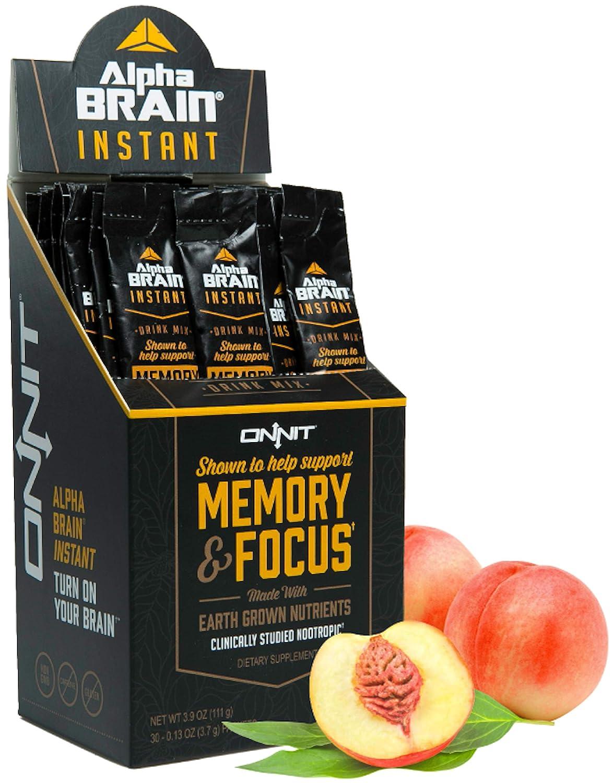 Amazoncom Onnit Alpha Brain Instant Nootropic Drink Mix