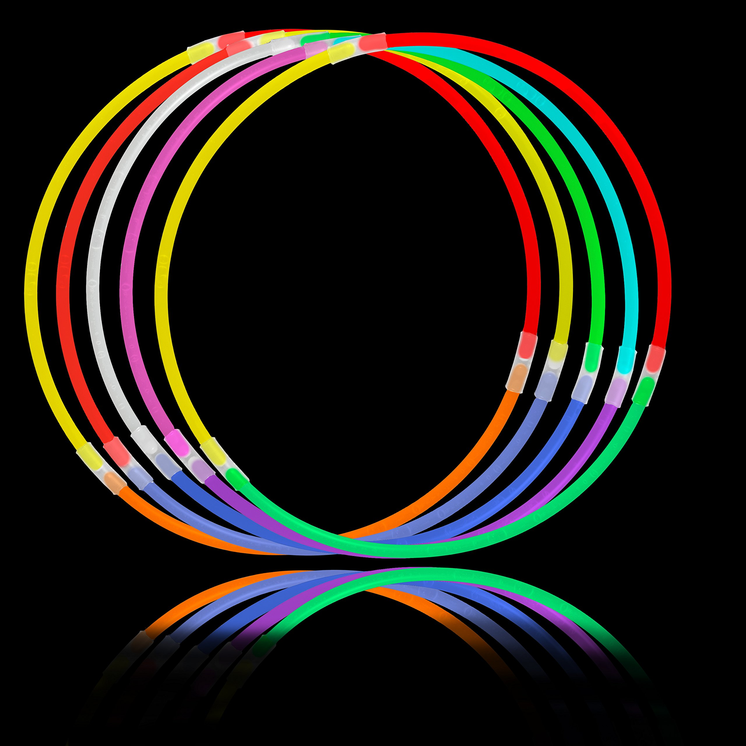 Lumistick Glow Sticks Variety Pack of Glowing Party Favors Includes Necklaces, Bracelets and Glasses (Assorted, 200 Packs) by Lumistick (Image #8)