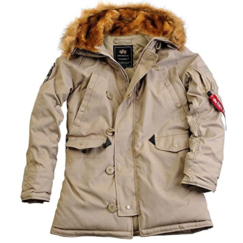 Alpha Industries Jacket Explorer w/o Patches Wmn, Farbe:khaki;Größe:XS