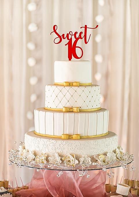 Amazon.com: Sweet 16 Pastel Topper, torta de cumpleaños ...