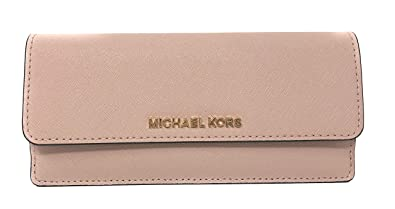 c4d776ee1 Michael Kors Jet Set Travel Flat Saffiano Leather Wallet (Ballet Pink)