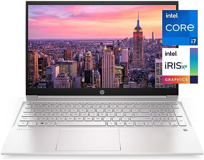HP Pavilion 15-inch Laptop, 11th Generation Intel Core i7-1165G7 Processor, Intel Iris Xe Graphics, 16 GB RAM, 512 GB Solid State Drive, Windows 10 Pro (15-eg0021nr, Natural Silver Aluminum) | Amazon