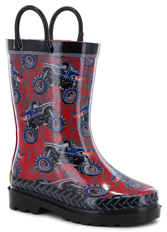 Western Chief Kids' Reflective Printed Waterproof Rain Boots
