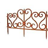 Set de 5rígida de plástico PVC valla de jardín césped borde decorativo color: terracota [0945] 2,45M/8FT