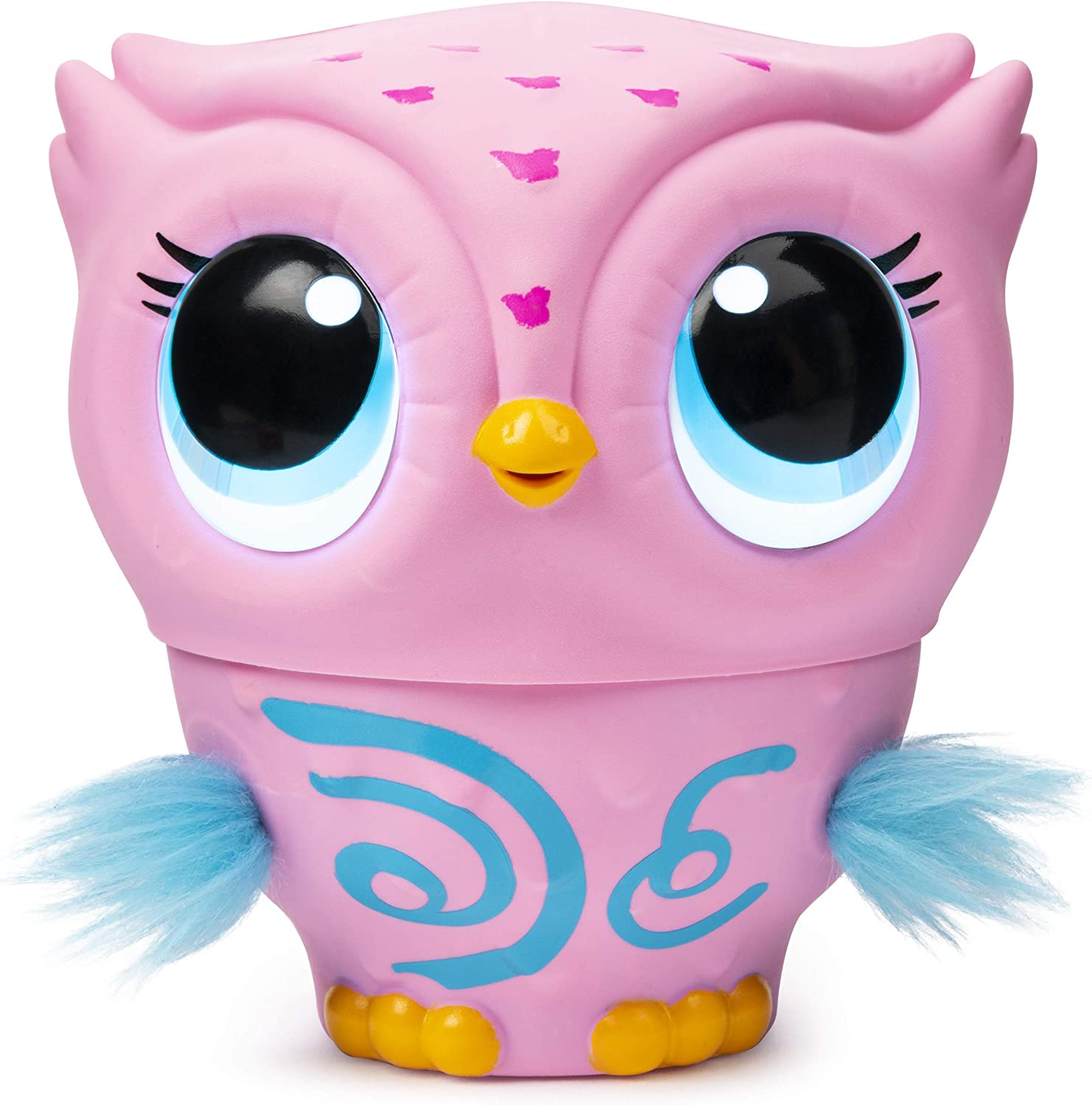 Owleez, Flying Baby Owl Interactive Toy with Lights & Sounds (Pink), for Kids Aged 6 & Up