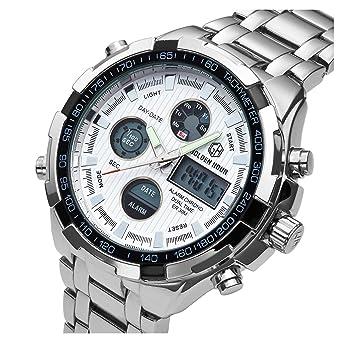 559807424c [バロンズ] 腕時計 メンズ クロノグラフ 日本製クォーツ 防水 夜光 アラーム アナデジ表示 (