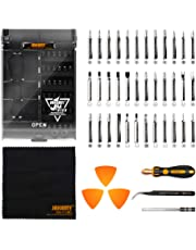 Jakemy 43 in 1 Screwdriver Set Precision Repair Tool Kit with 36 Magnetic Driver Bits Screwdriver Kit for iphone X/8/7 Plus Cell Phone Macbook Laptop PC Black