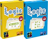 Brain Games Logic Cards - Fun Logic, Geometry & Maths Challenges - Bundle of Yellow & Blue