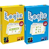 Brain Games Logic Cards - Fun Logic, Geometry & Maths Challenges - Bundle of Yellow & Blue