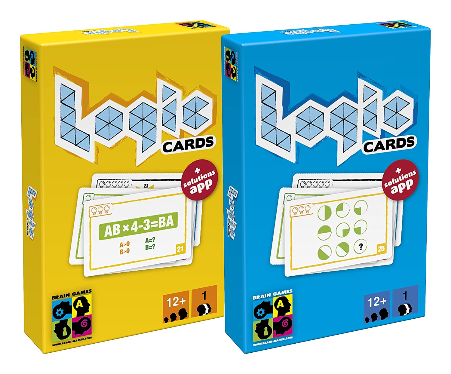 Brain Games Logic Cards - Fun Logic, Geometry & Maths Challenges ...