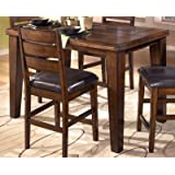 Ashley Furniture Signature Design   Larchmont Dining Room Table   Counter  Height With Built In