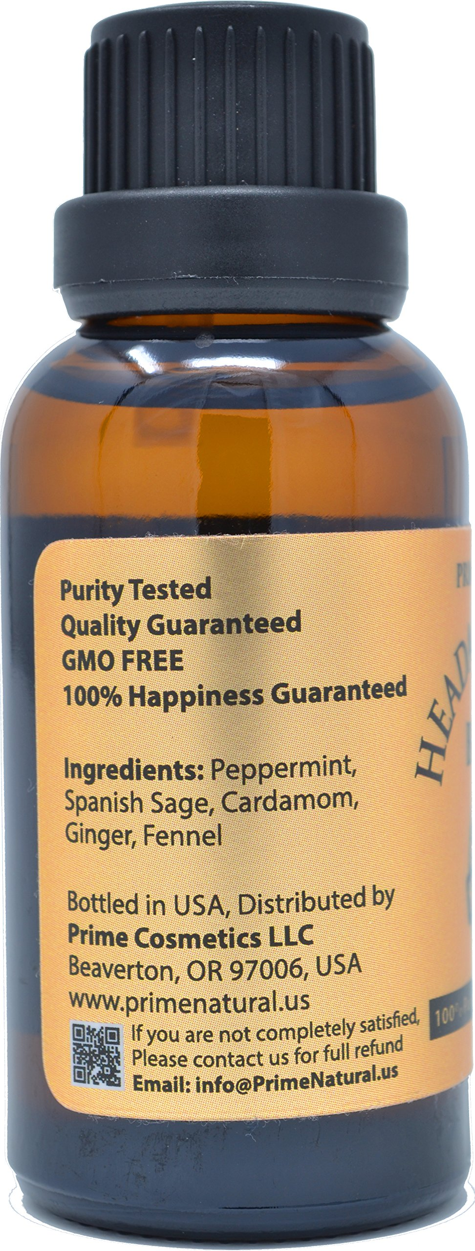 Headache Relief Essential Oil Blend 30ml/1oz - 100% Natural Pure Undiluted Therapeutic Grade for Aromatherapy, Scents & Diffuser - Migraine, Tension, Relaxation, Stress Relief, Calming by Prime Natural (Image #2)