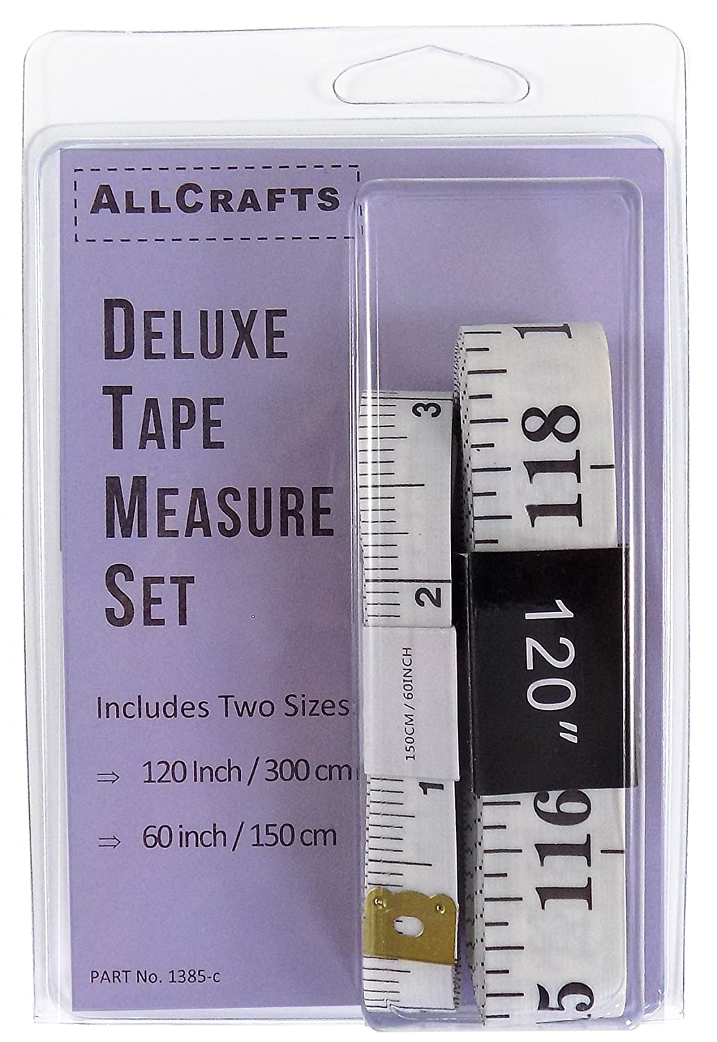 60-Inch and 120-Inch Soft Measuring Tape Measure for Sewing Tailor Cloth Quilting Ruler (2 Pack) AllCrafts 1385-c