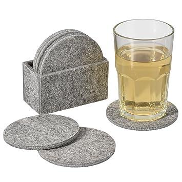 untersetzer fur glaser elander glasuntersetzer aus filz 8er set mit box getranke fa 1 4 r tassen