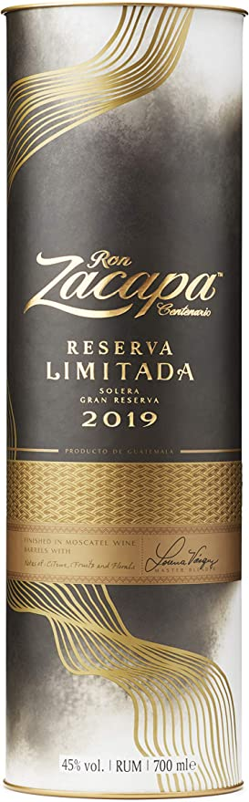 Ron Zacapa Centenario RESERVA LIMITADA Solera Gran Reserva 2019 45% - 700 ml in Giftbox