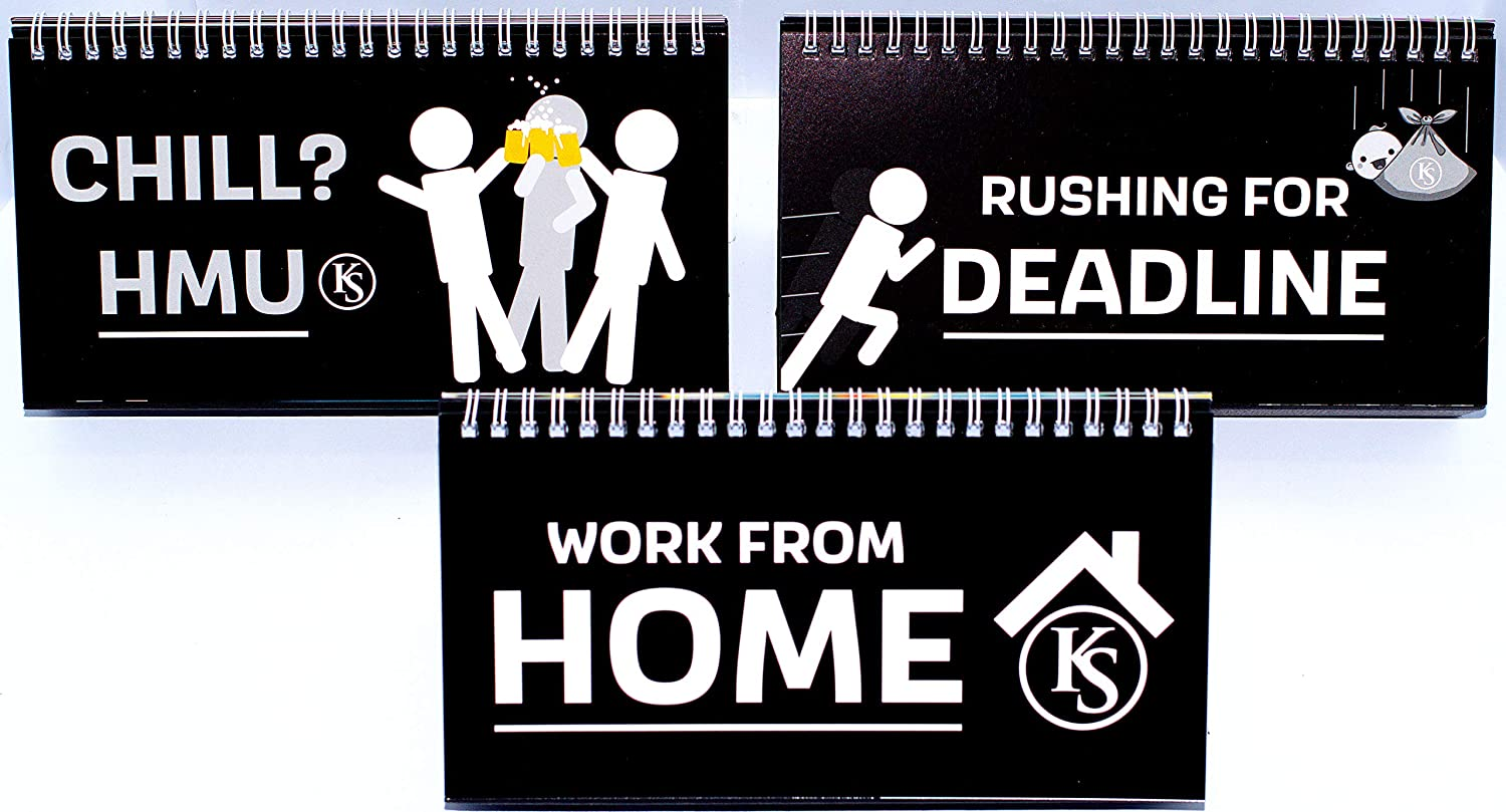 Funny Stickman Office Desk Signs - Cute Office Decoration Accessory for Your Desk, Appreciation Gifts for Coworkers, Women & Bosses. 100% Professional & Cool.