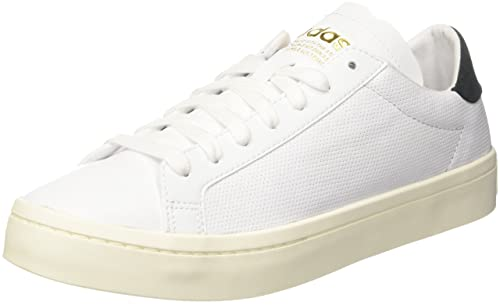 adidas Courtvantage, Scarpe da Ginnastica Basse Uomo, Bianco (Footwear White/Footwear White/Bright Blue), 47 1/3 EU