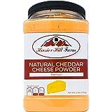 Hoosier Hill Farm Premium Cheddar Cheese Powder, No Artificial Colors, Gluten Free, Made in the USA (2.5 lb)