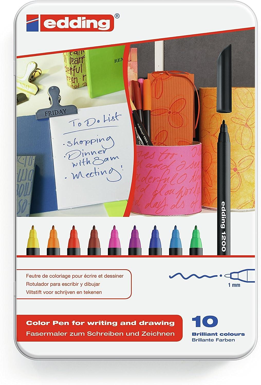 Edding 4 – 1200 – 10 rotuladores unidades), varios colores.10: Amazon.es: Oficina y papelería