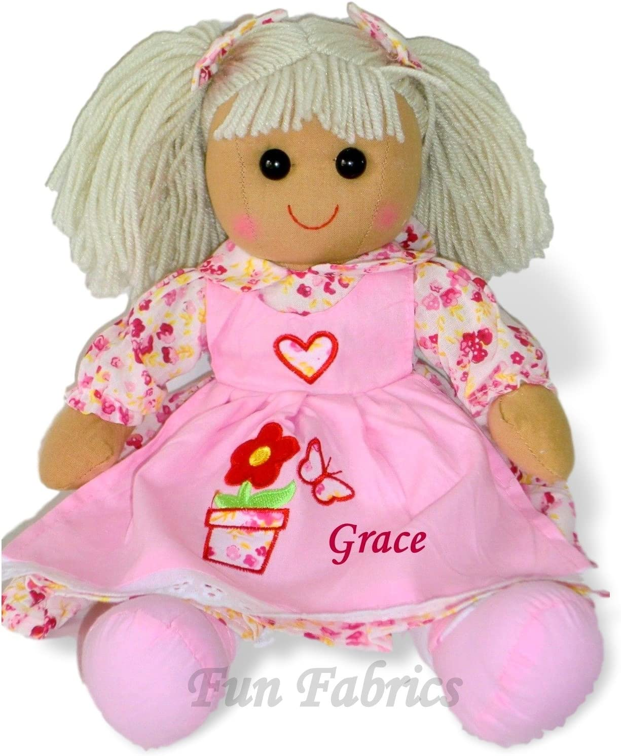 Bridesmaid Personalised Large Rag Doll Birthday Wedding Christening Gift Flower Girl