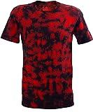 Chameleon Clothing Tie Dye Festival Rojo Scrunch Camiseta Rojo Rosso, Talla M