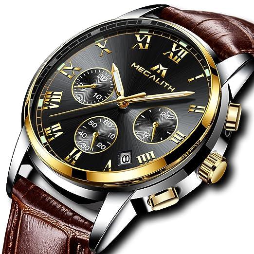 b7e9bd12e107 Relojes Hombre Relojes de Pulsera de Lujo Marea Cronometro Impermeable  Fecha Calendario Analogicos Cuarzo Relojes de Hombre Deportivo Casual  Clásicos ...