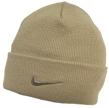 Adults Nike Fine Double Knit Warm Beige Beanie Hat 564453-168  Amazon.co.uk   Sports   Outdoors f3fb5271905