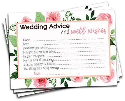 wedding advice and well wishes cards for bridal shower game wedding reception activity for
