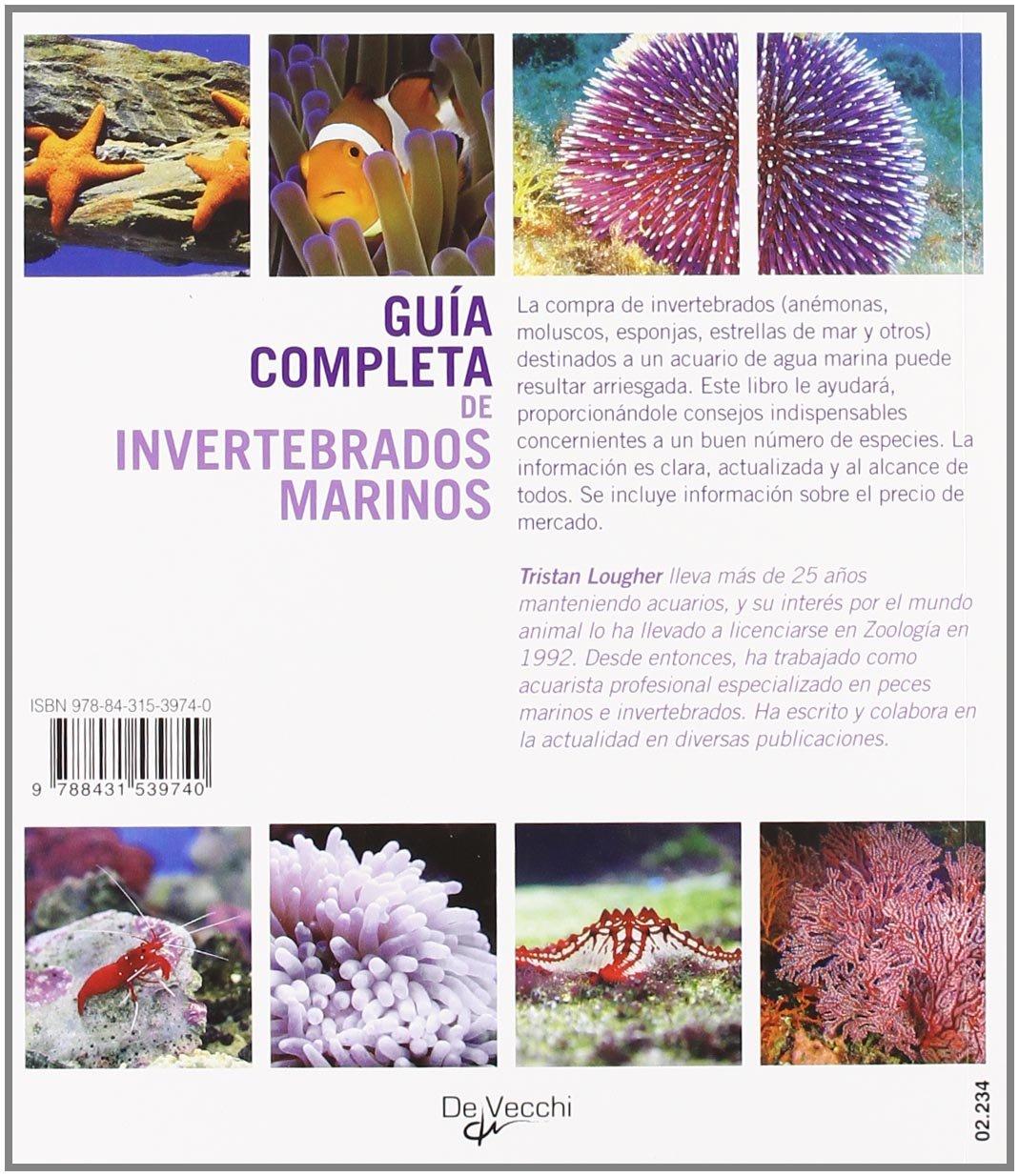 Informacion esencial para ayudarle en la eleccion de los invertebrados para su acuario de agua marina (Spanish Edition): Tristan Louger: 9788431539740: ...