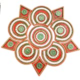 KRIWIN® Big Size Floor/Wall /Table Acrylic Rangoli Decorative Showpiece (11 pcs Set)