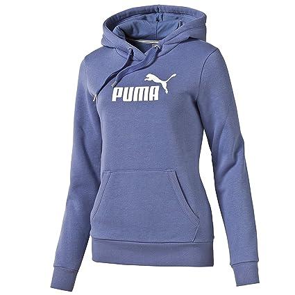 Puma Essentials Large Logo Hoodie – Sudadera FL W BLEACHED DENIM-WHITE XXXL
