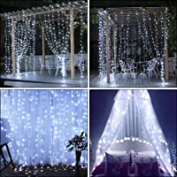 Slashome 600 LED Curtain Icicle Lights with 8 Modes (White)